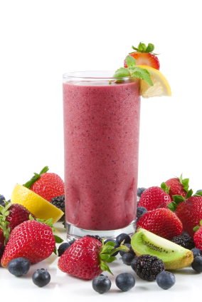 protein smoothie berries